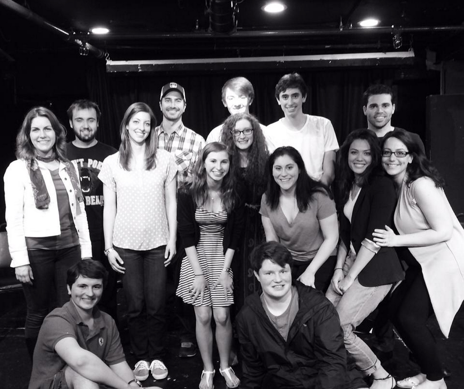 Students involved with Newplayers One Acts visit The Producers' Club in NYC.
