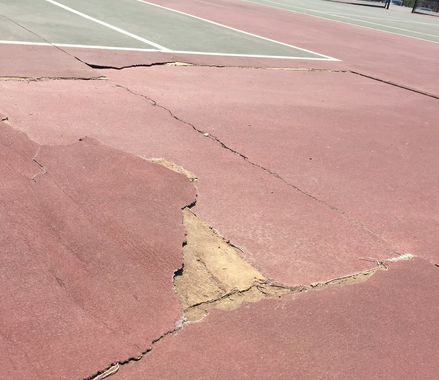 Boys Tennis Copes with Court Damages